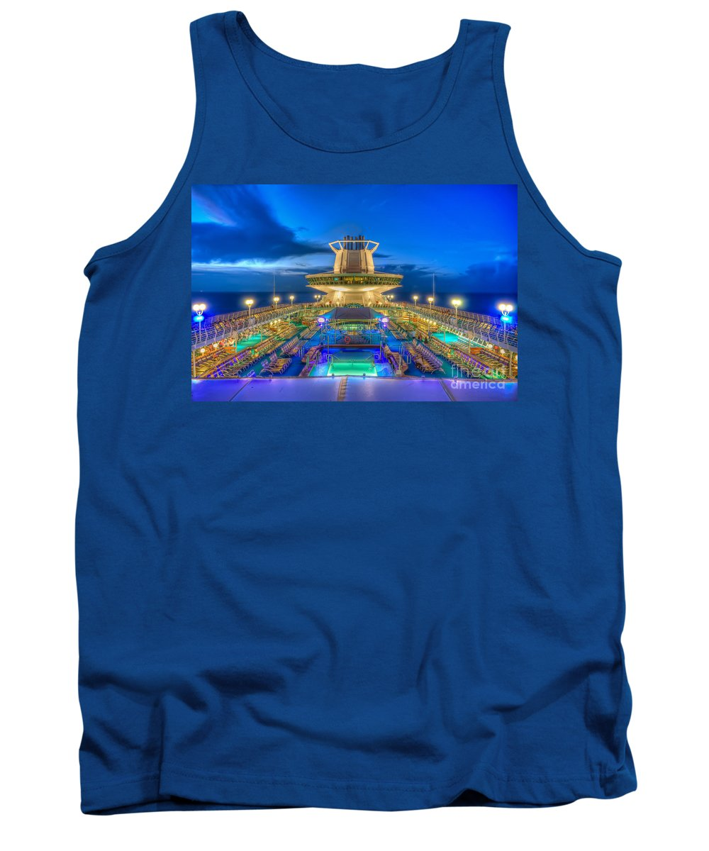 Michael Tank Top featuring the photograph Royal Carribean Cruise Ship by Michael Ver Sprill