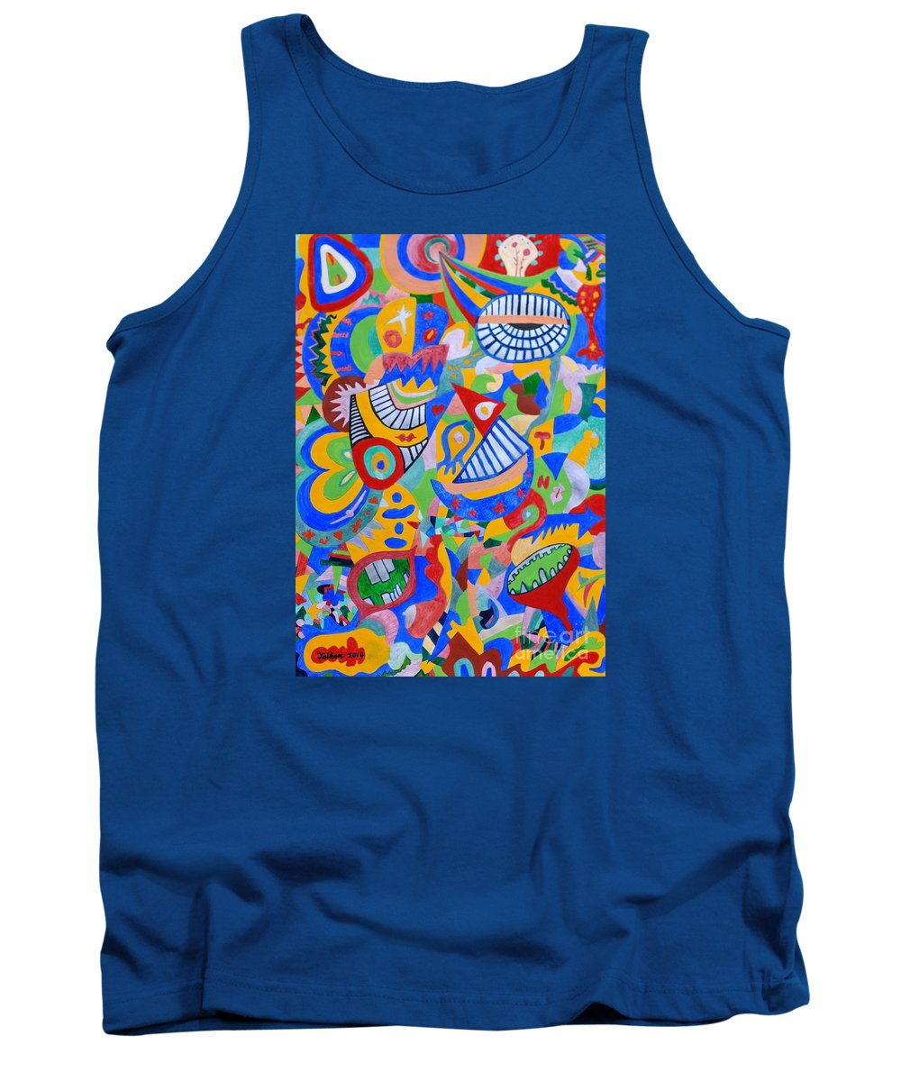 Rumor Tank Top featuring the painting Rumor By Taikan by Taikan Nishimoto