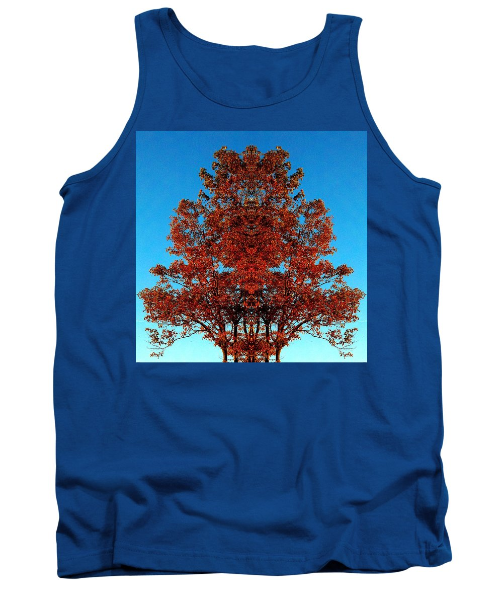 Tree Tank Top featuring the photograph Rust And Sky 2 - Abstract Art Photo by Marianne Dow