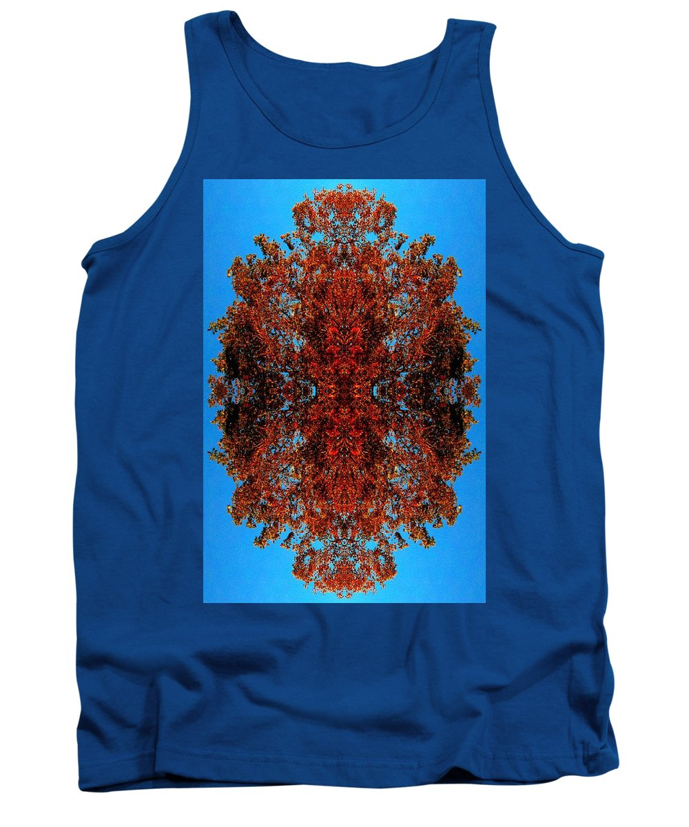 Trees Tank Top featuring the photograph Rust And Sky 5 - Abstract Art Photo by Marianne Dow