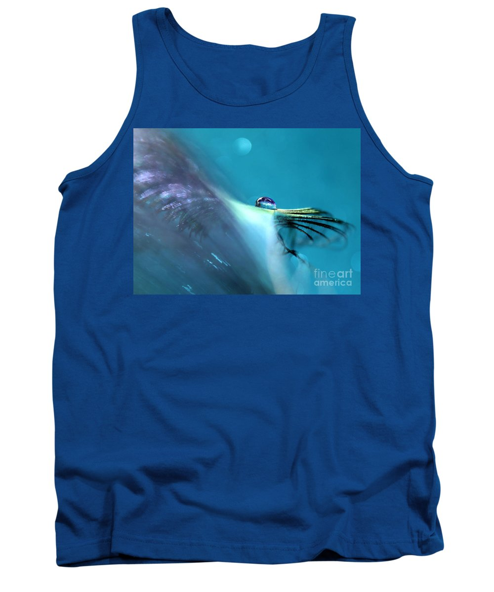Peacock Feather Tank Top featuring the photograph Sacred Vision by Krissy Katsimbras