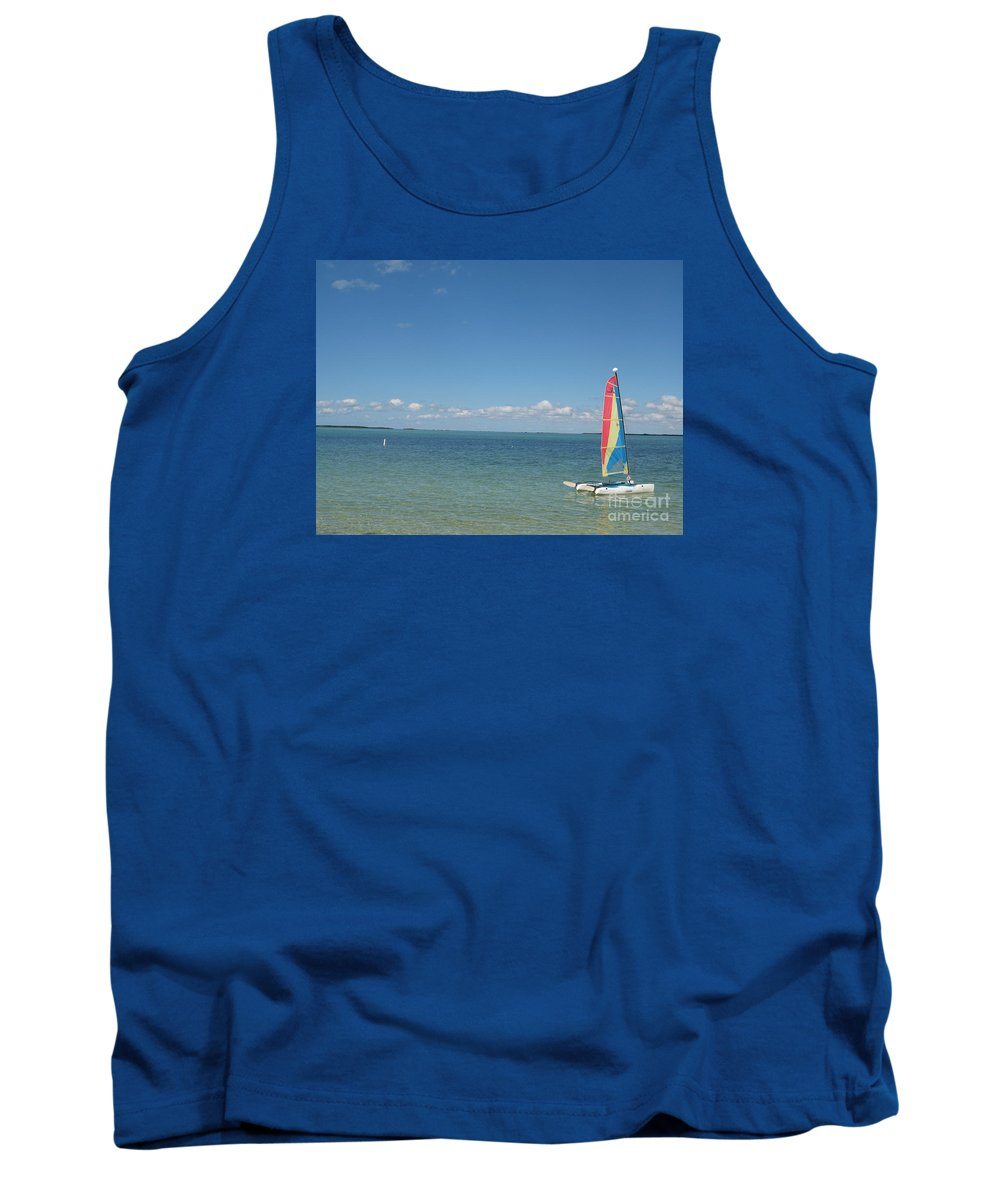 Sailing Tank Top featuring the photograph Sailing At Key Largo by Christiane Schulze Art And Photography