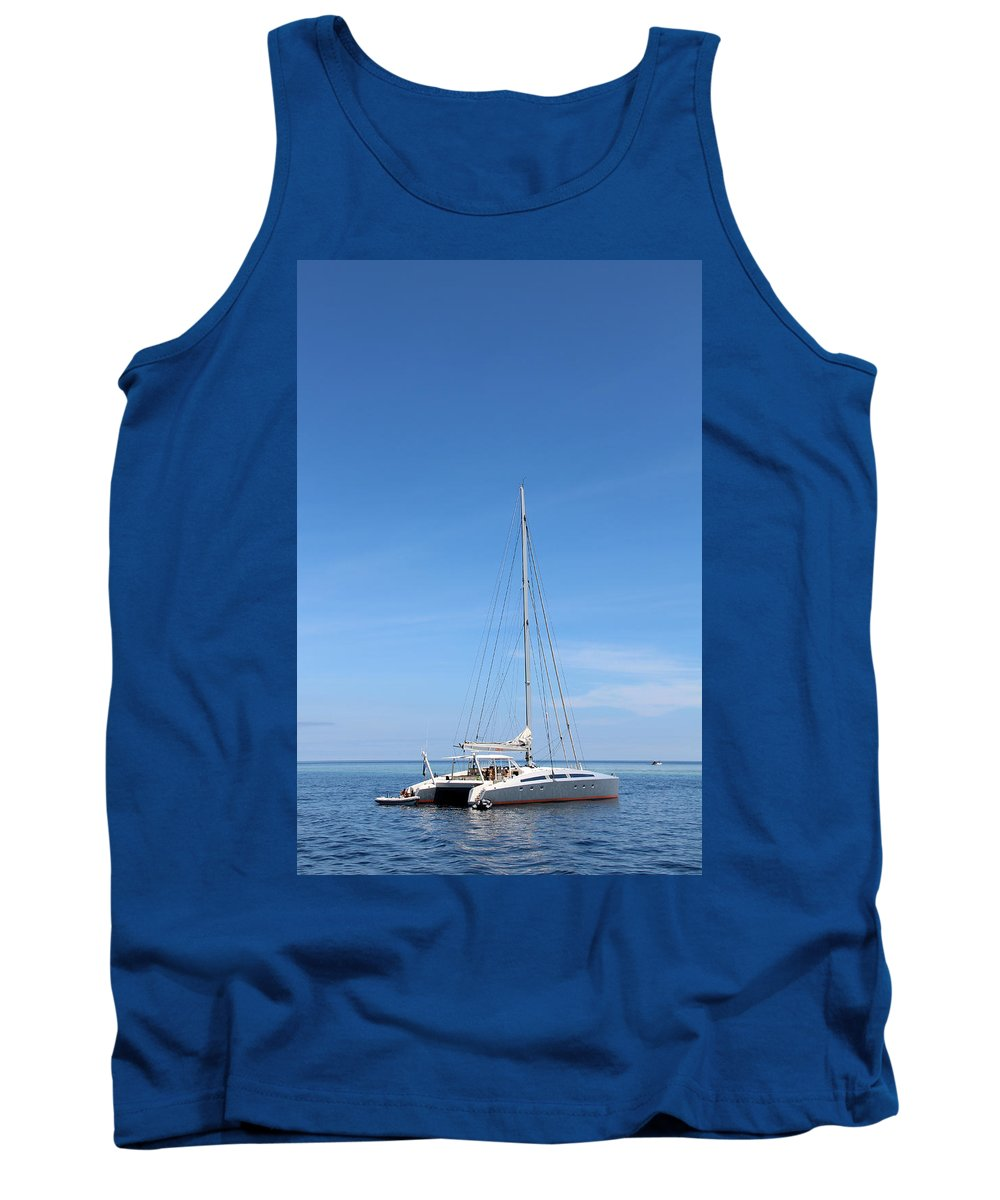 Sailing Tank Top featuring the photograph Sailing Yacht by Sergey Lukashin