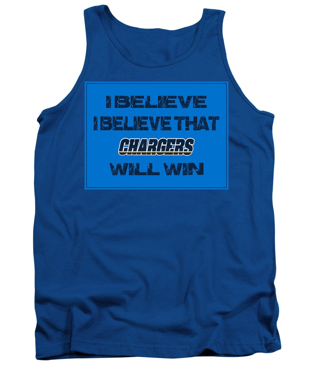 Chargers Tank Top featuring the photograph San Diego Chargers I Believe by Joe Hamilton