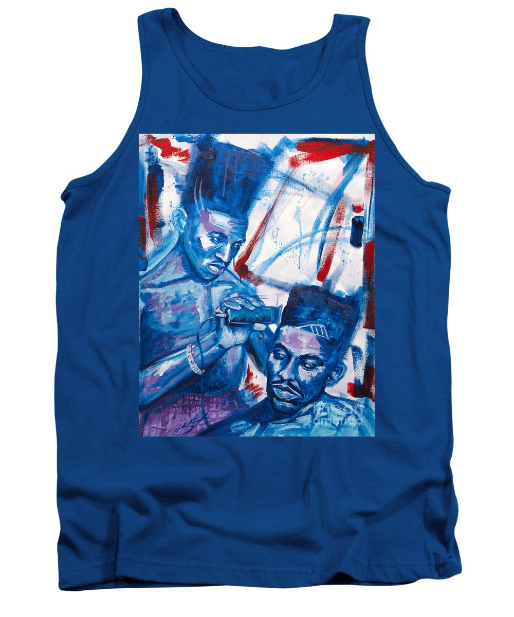 Scoop Tank Top featuring the painting Scoob And Kane by Shop Aethetiks