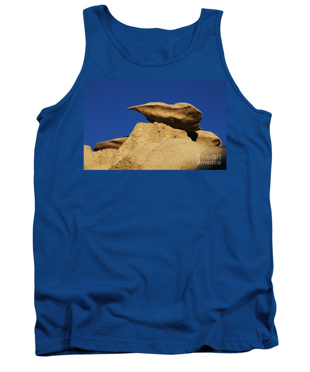 Textures Tank Top featuring the photograph Sculpted Rock by Vivian Christopher