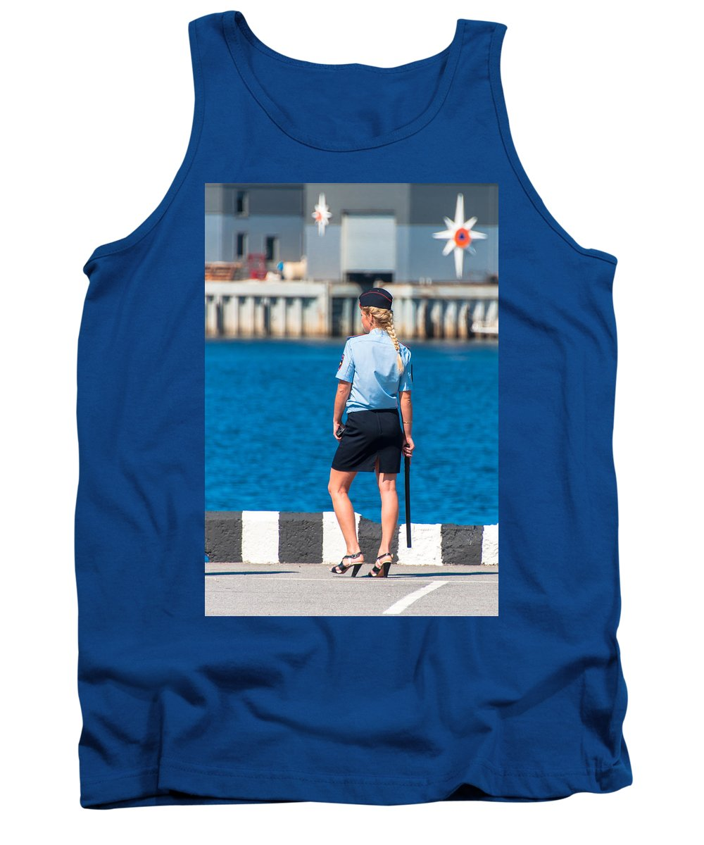 Security Tank Top featuring the photograph Security by Alex Hiemstra