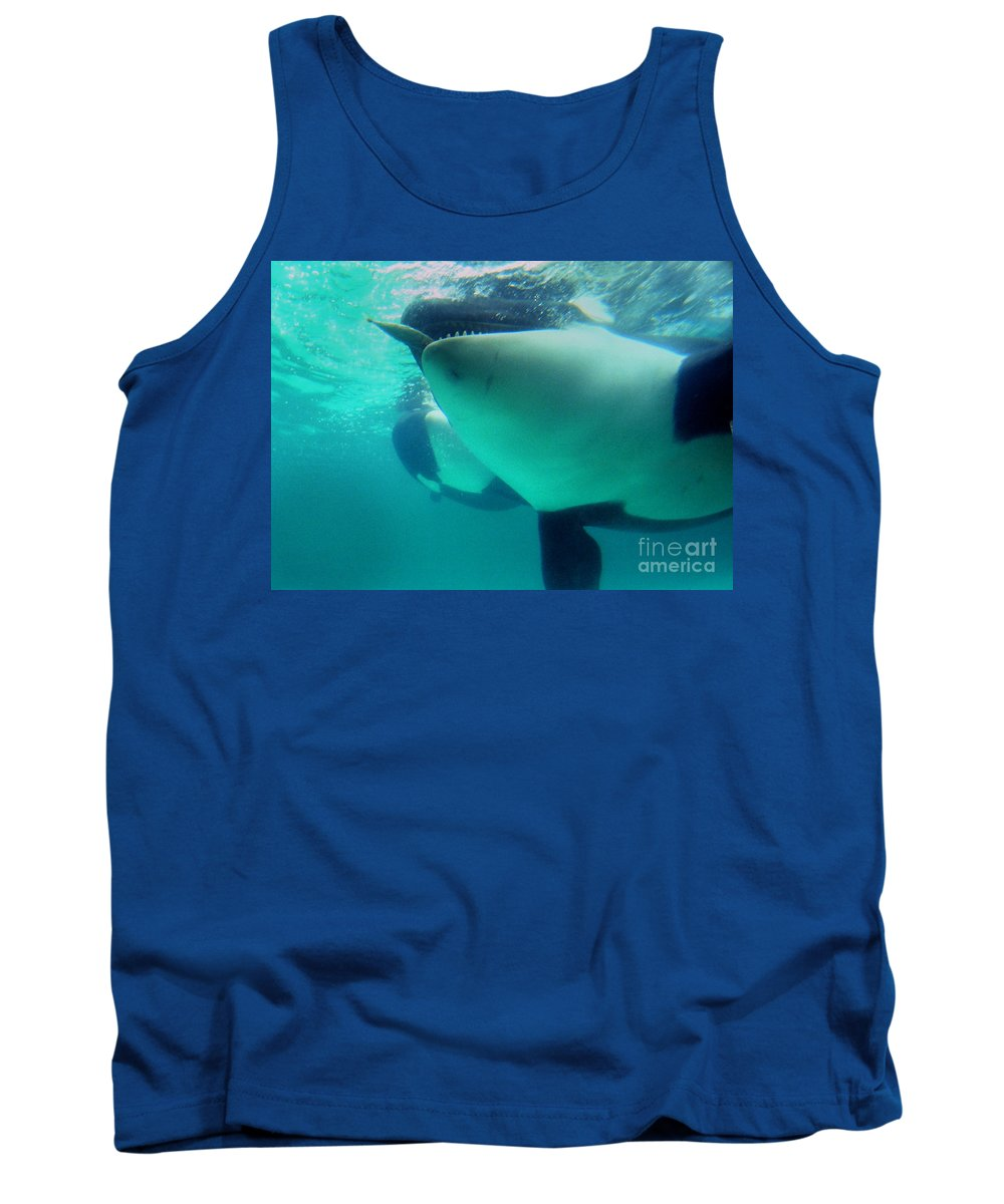 Orca Tank Top featuring the photograph Shamu Was 1965-1971 Orca Sea World California 1968 by California Views Archives Mr Pat Hathaway Archives