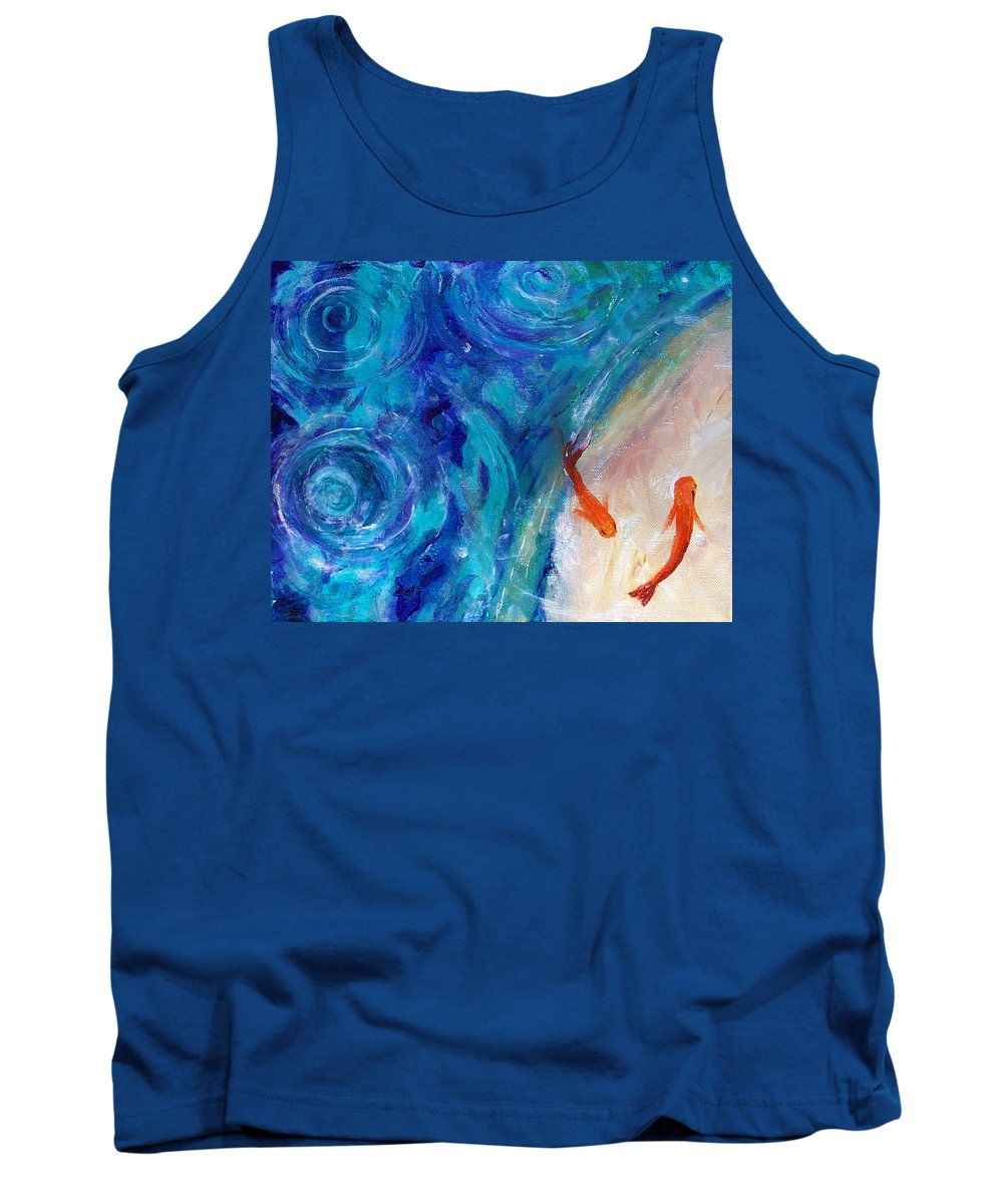 Fish Tank Top featuring the painting Shannon - Fish by Robert Gross