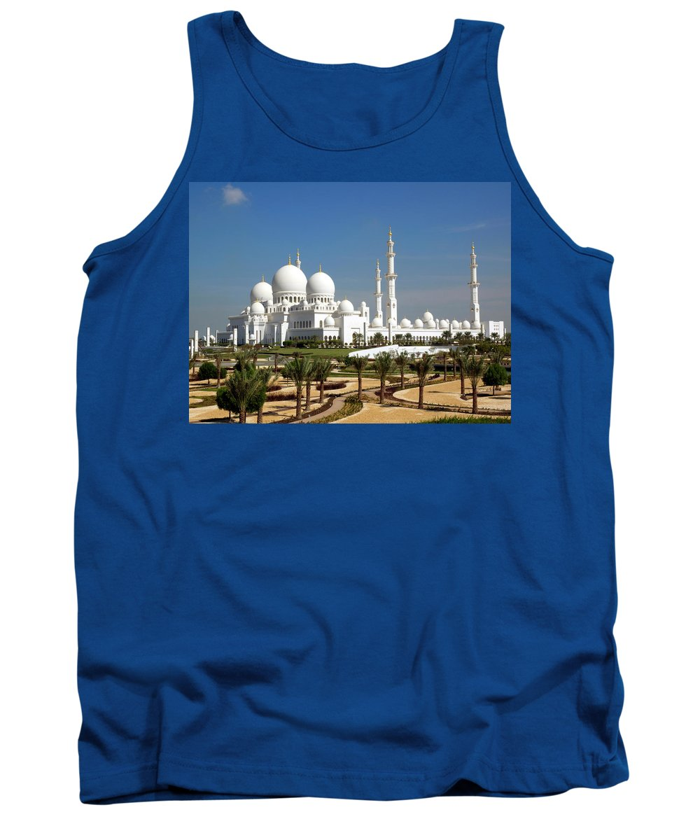 Photography Tank Top featuring the photograph Sheikh Zayed Bin Sultan Al Nahyan Grand by Panoramic Images