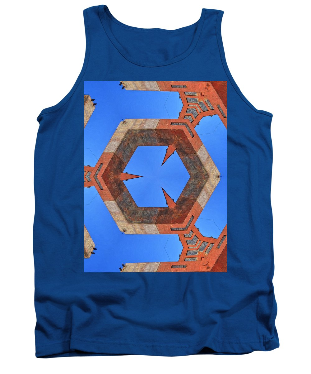 Sky Fortress Tank Top featuring the painting Sky Fortress Progression 10 by Dominic Piperata
