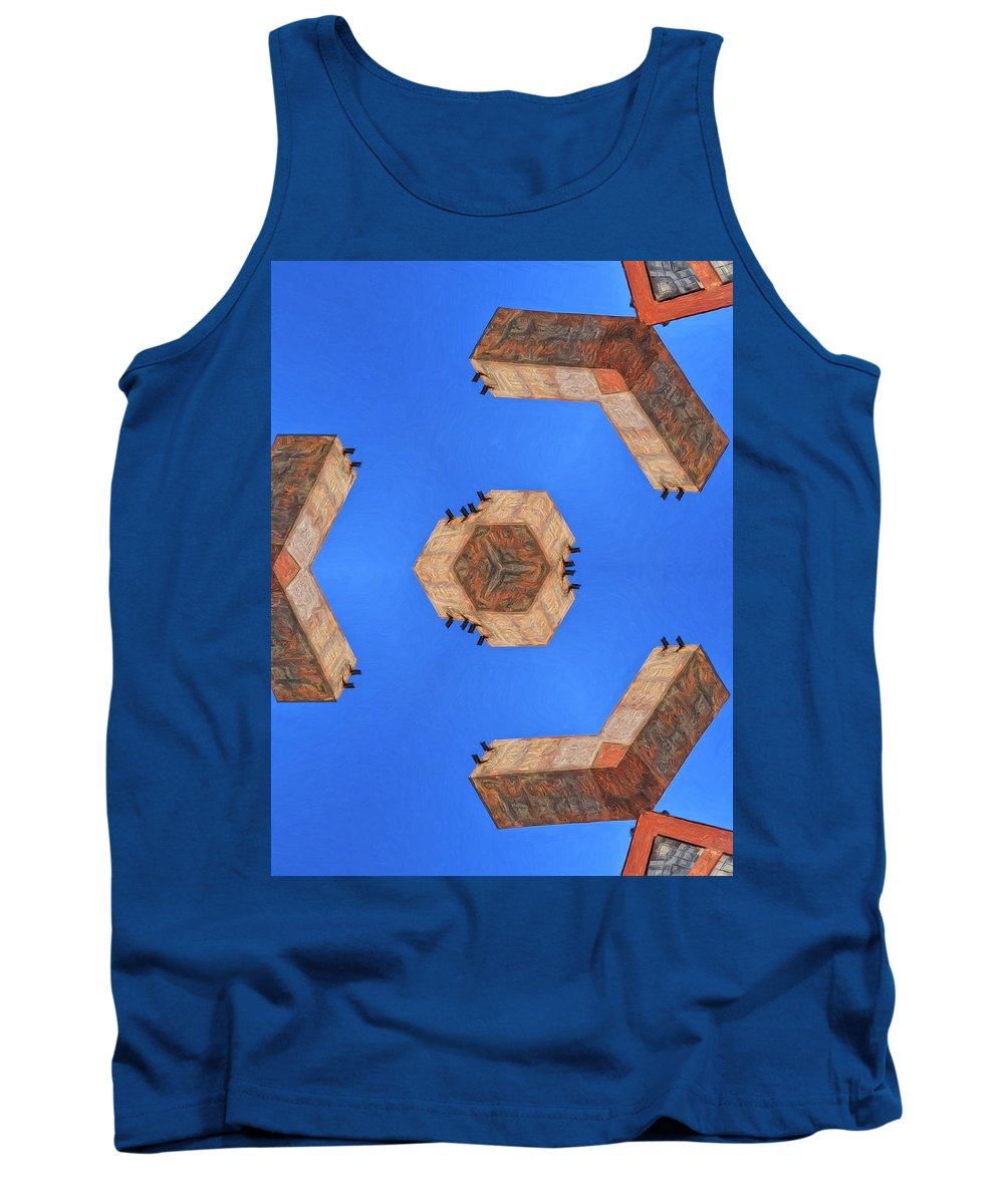 Sky Fortress Tank Top featuring the painting Sky Fortress Progression 6 by Dominic Piperata