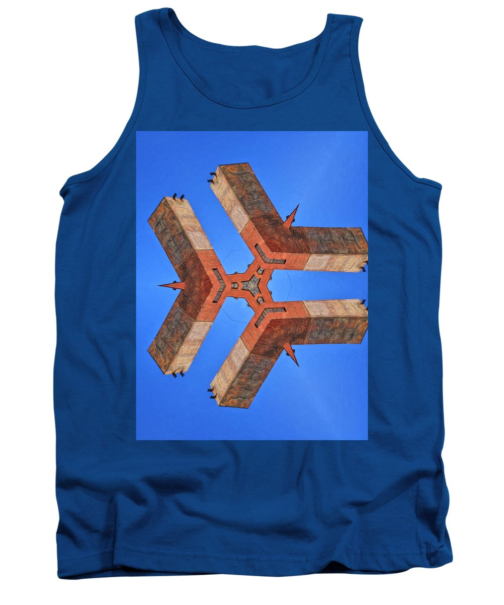 Sky Fortress Tank Top featuring the painting Sky Fortress Progression 8 by Dominic Piperata