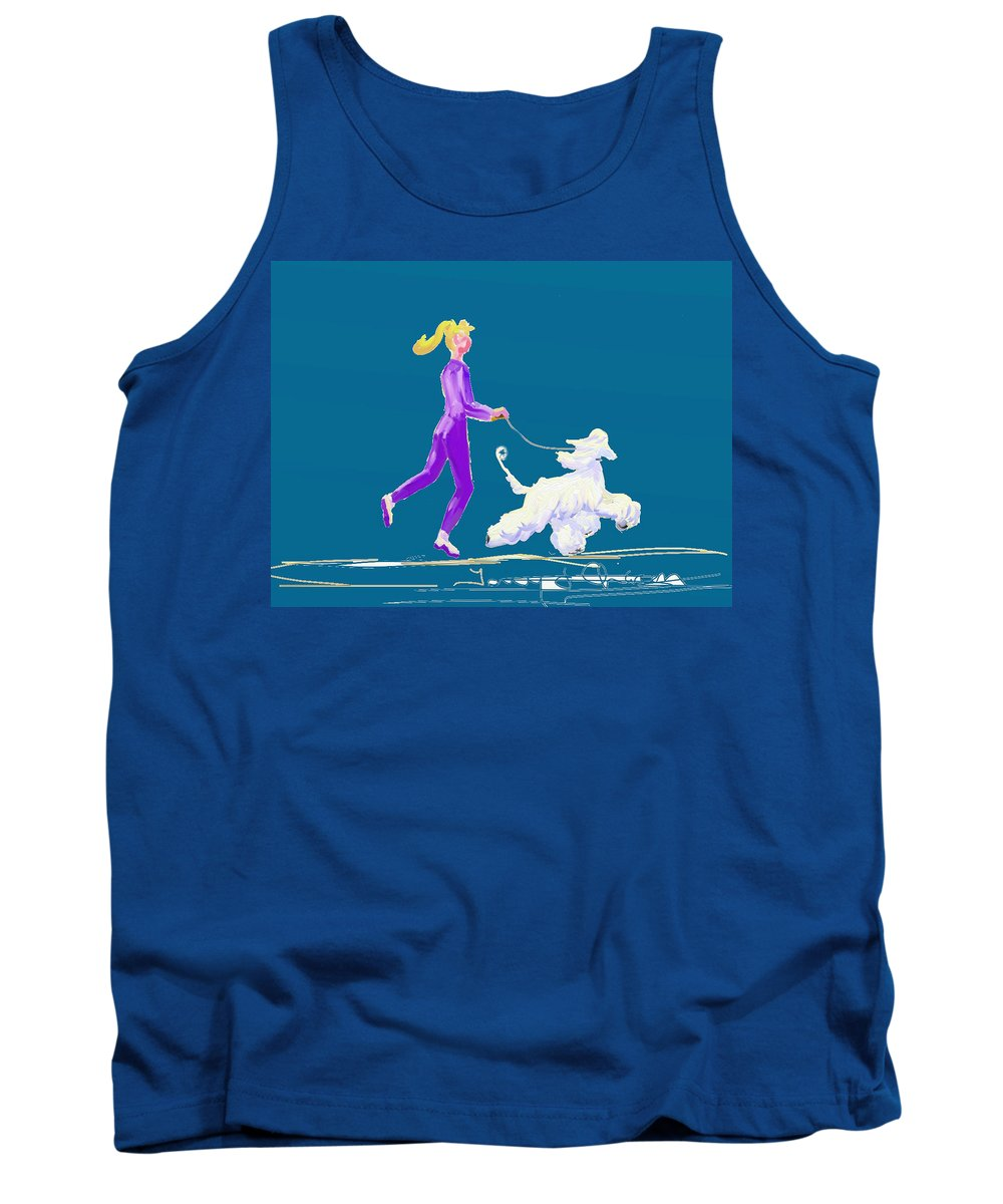 Ipad Finger Painting Tank Top featuring the painting Snow White by Terry Chacon