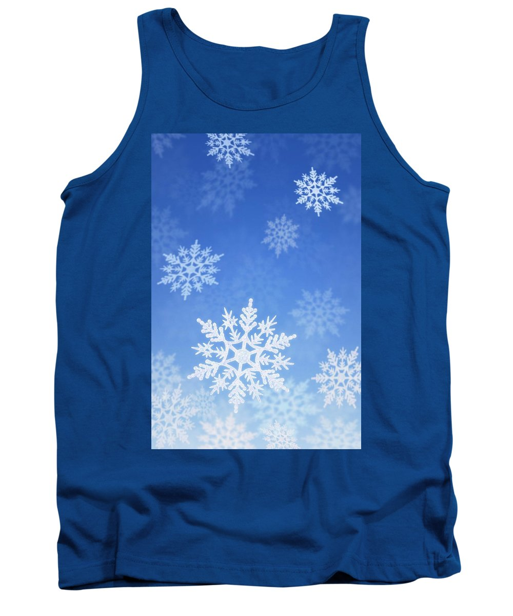 Blue Tank Top featuring the photograph Snowing by Don Hammond