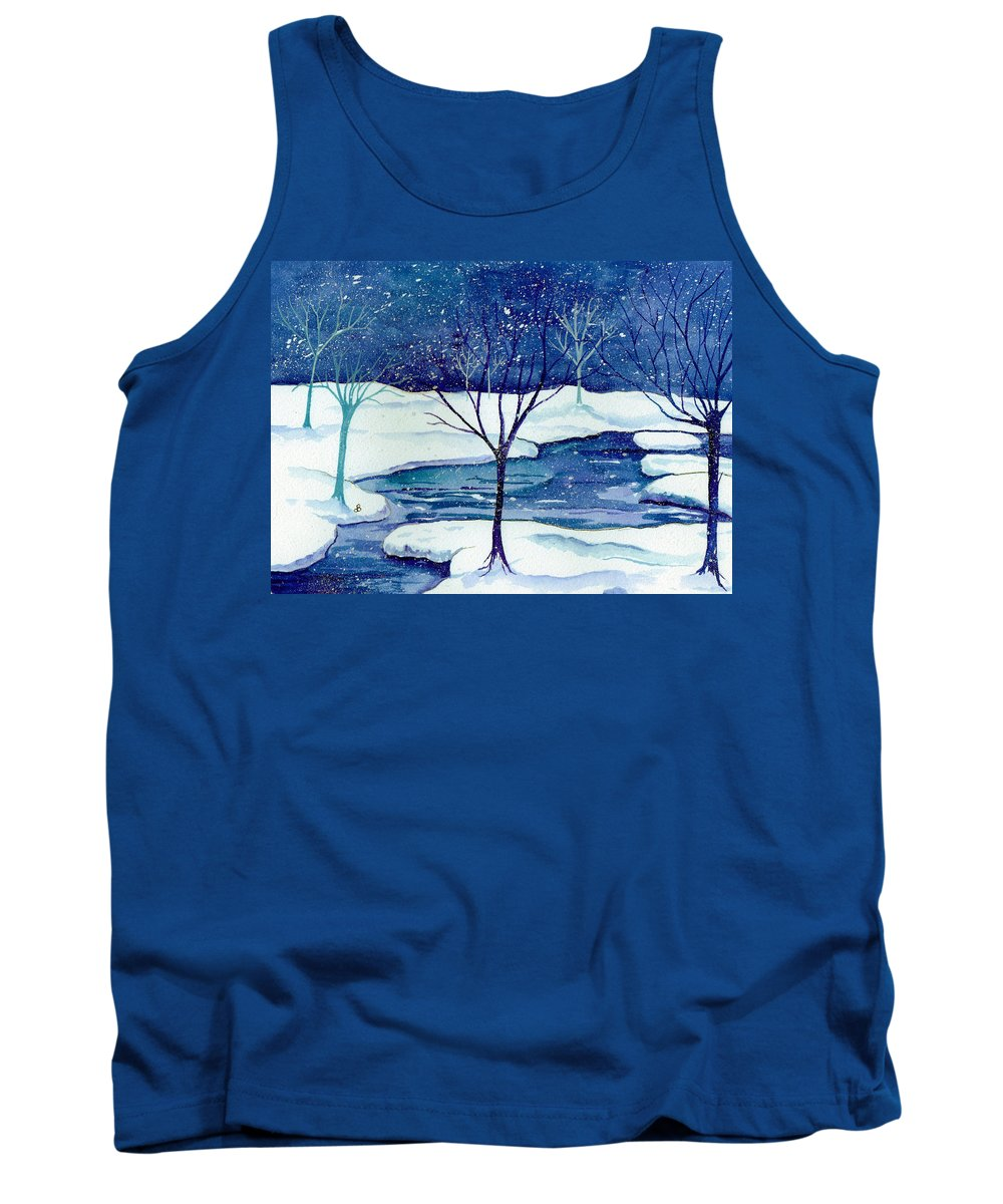 Landscape Tank Top featuring the painting Snowy Moment by Brenda Owen