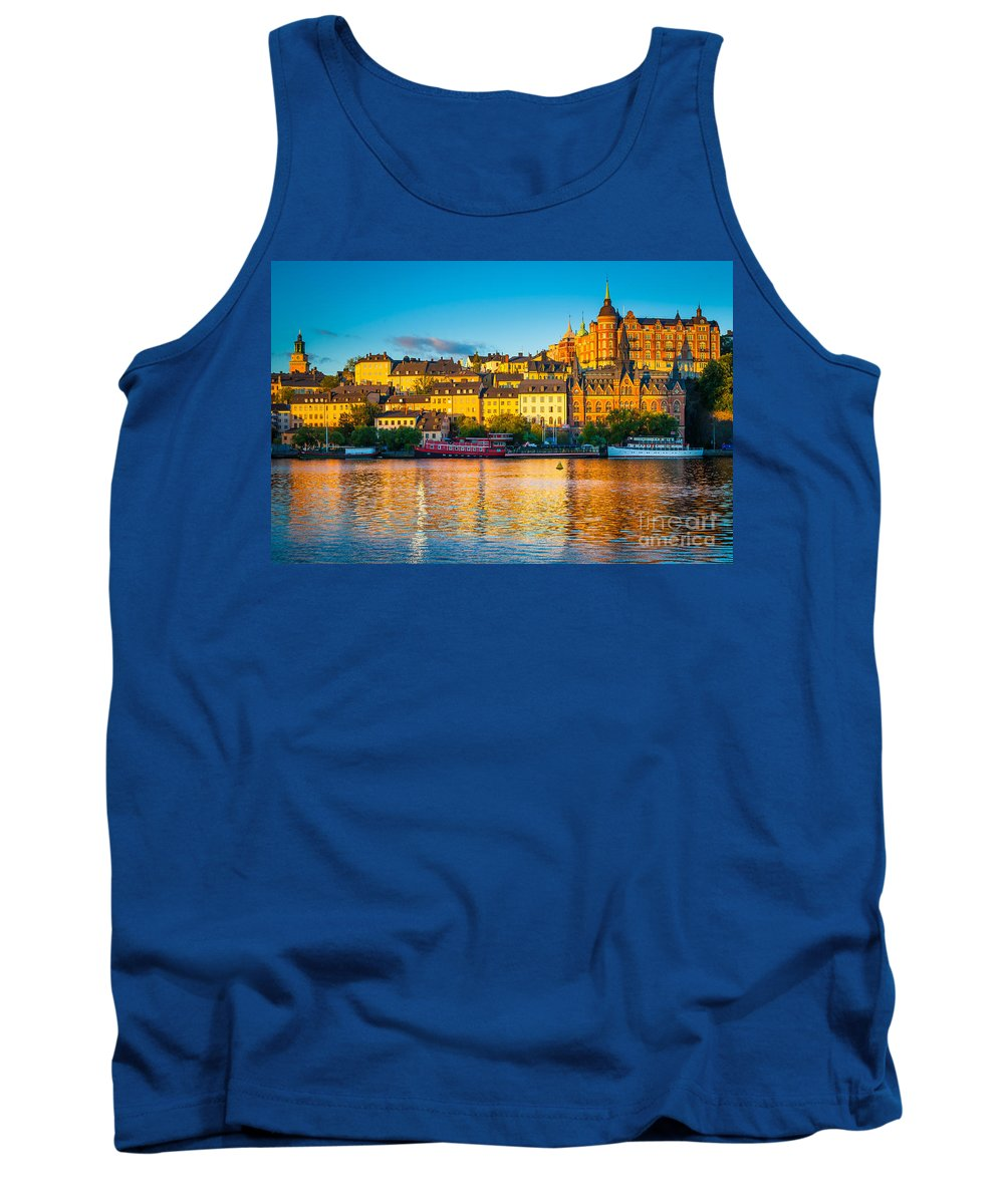 Europe Tank Top featuring the photograph Sodermalm Skyline by Inge Johnsson