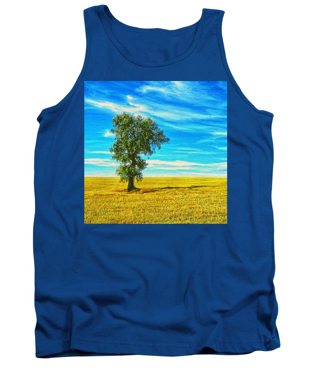 Solitario Tank Top featuring the painting Solitario by Dominic Piperata