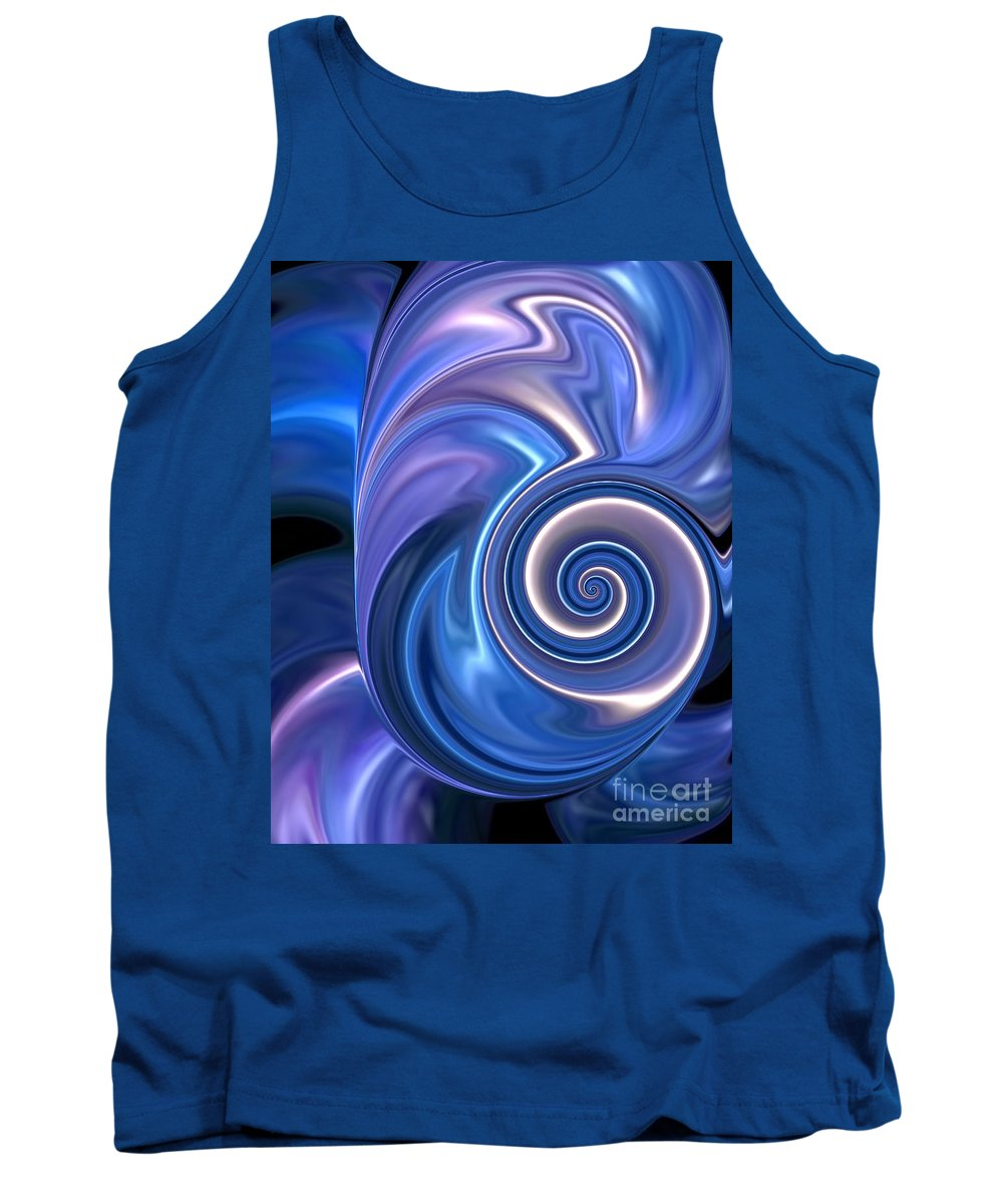 Space Time Tank Top featuring the digital art Space Time by Chris Butler