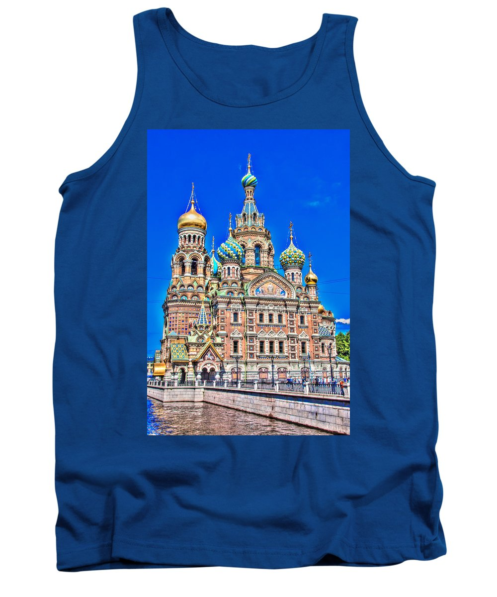 Russia Tank Top featuring the photograph St Petersburg Church by Alex Hiemstra