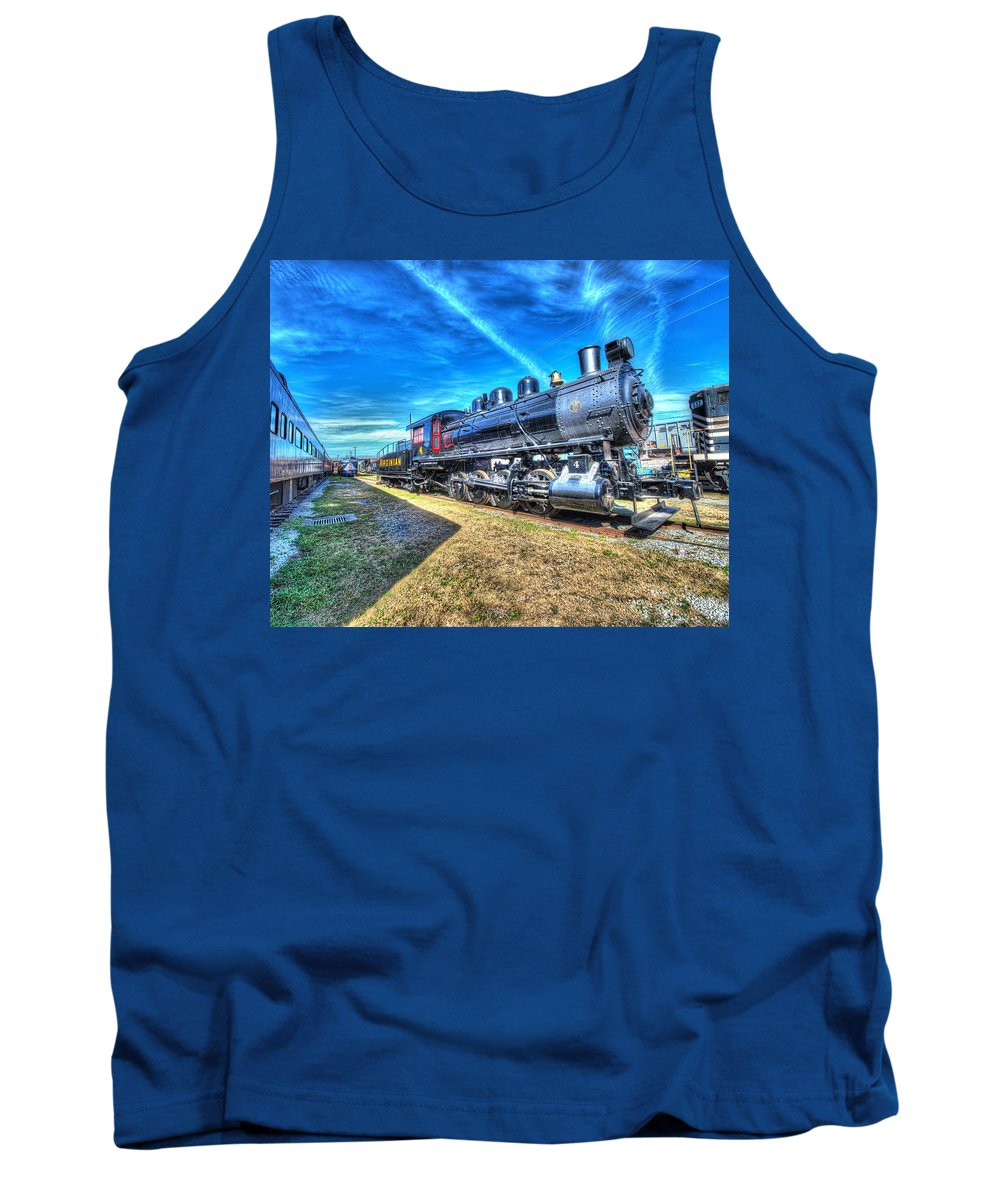 Historic Tank Top featuring the photograph Steam Locomotive No 4 Virginian Class Sa by Greg Hager