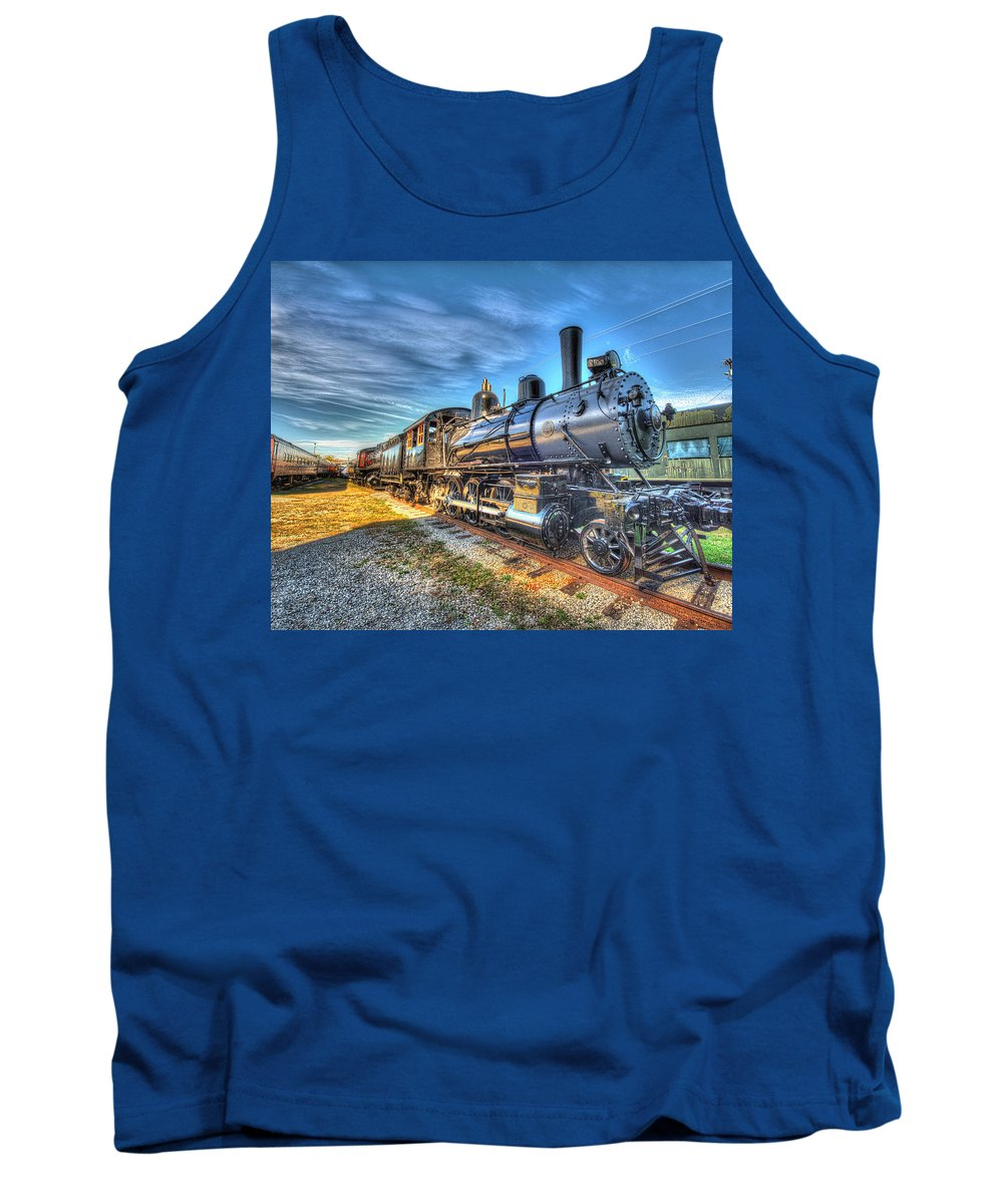 Historic Tank Top featuring the photograph Steam Locomotive No 6 Norfolk And Western Class G-1 by Greg Hager