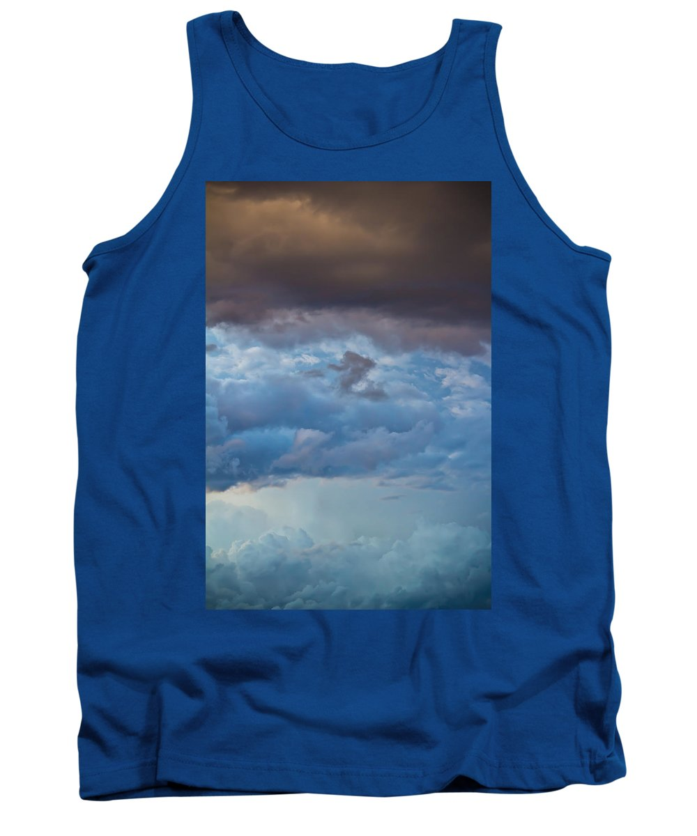 Storm Tank Top featuring the photograph Stormy Blues - Casper Wyoming by Diane Mintle