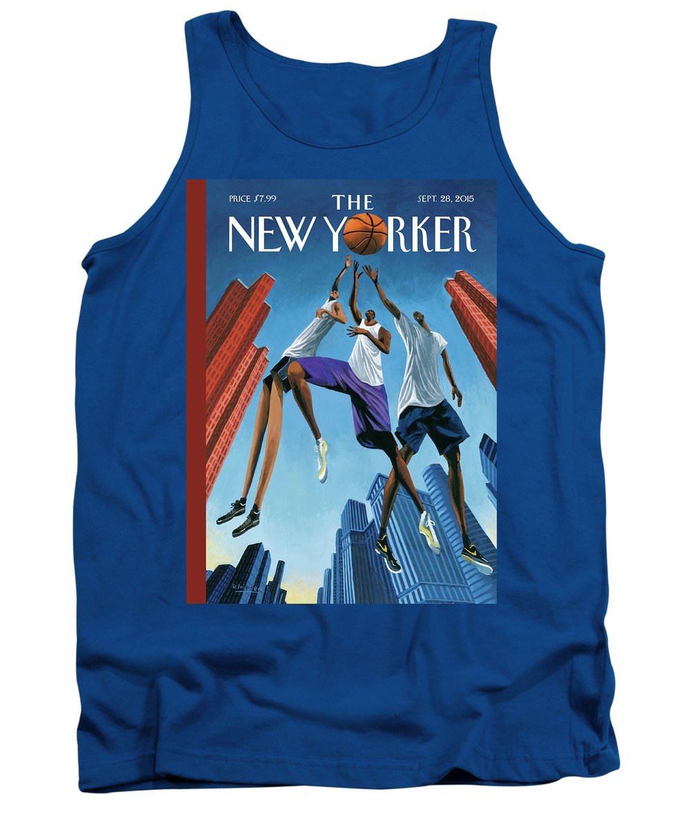 Basketball Tank Top featuring the painting Streetball by Mark Ulriksen