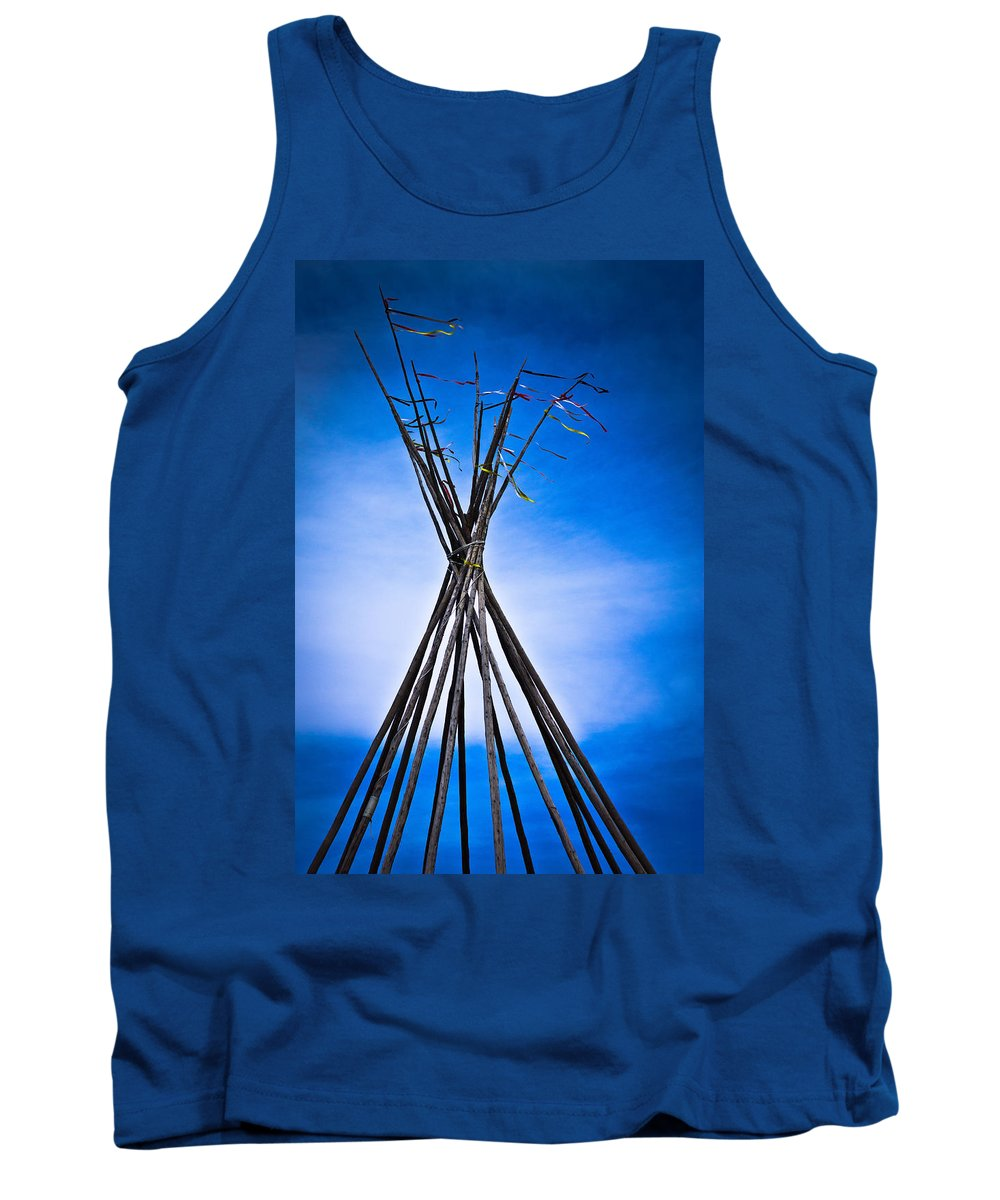 Native Tank Top featuring the photograph ...strength by Cory Huchkowski