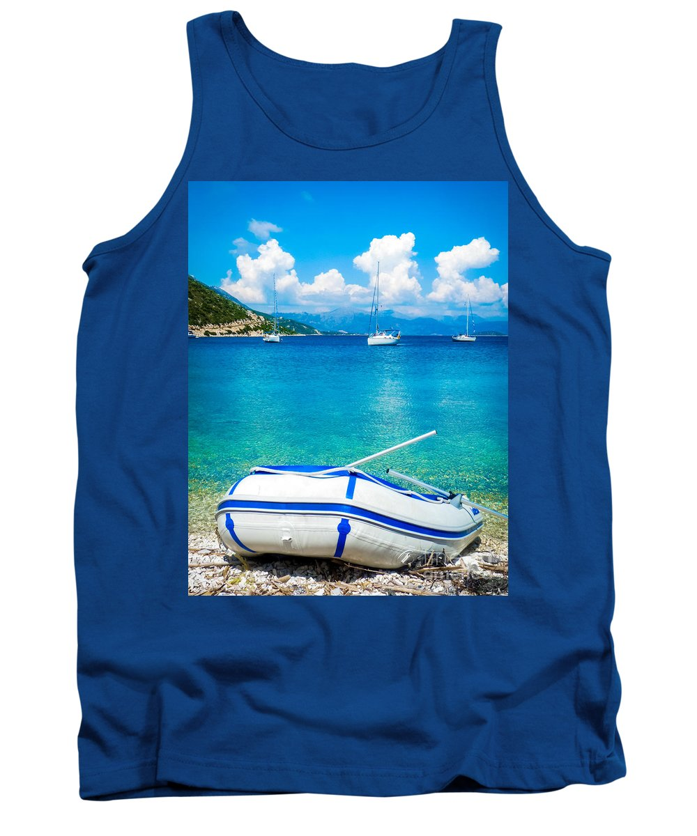 Sailing Tank Top featuring the photograph Summer Sailing In The Med by Silken Photography