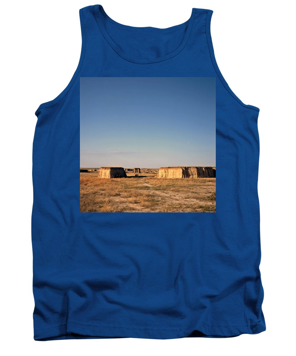 Mesas Tank Top featuring the photograph Sunlit Mesas by Carla P White