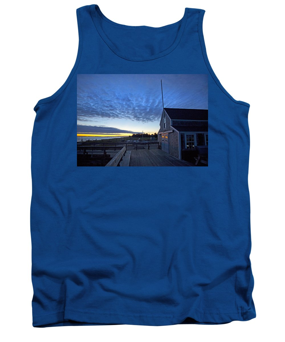 Barnstable Tank Top featuring the photograph Sunrise At Barnstable Yacht Club by Charles Harden