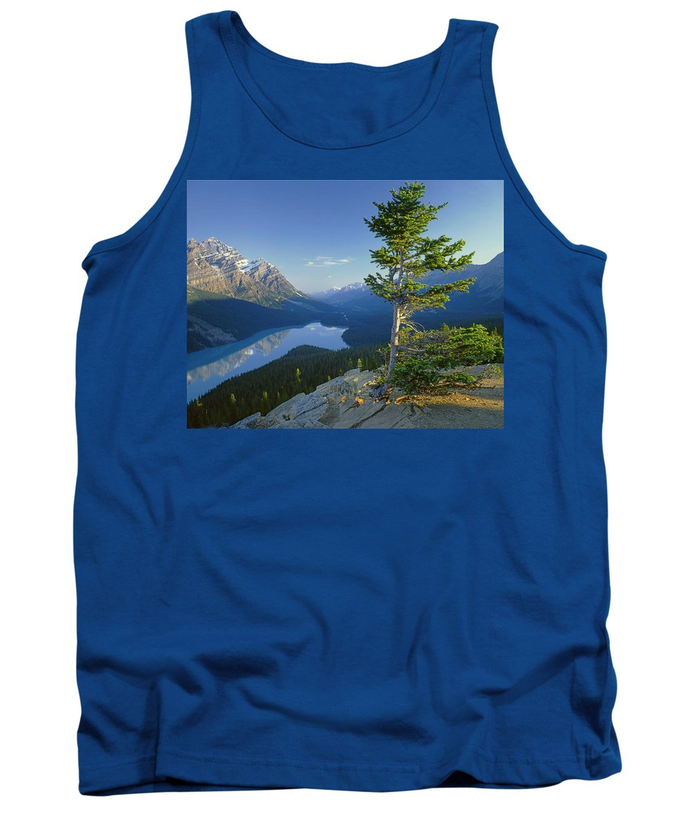 Sunrise Tank Top featuring the photograph 1m3608-sunrise On Peyto Lake by Ed Cooper Photography