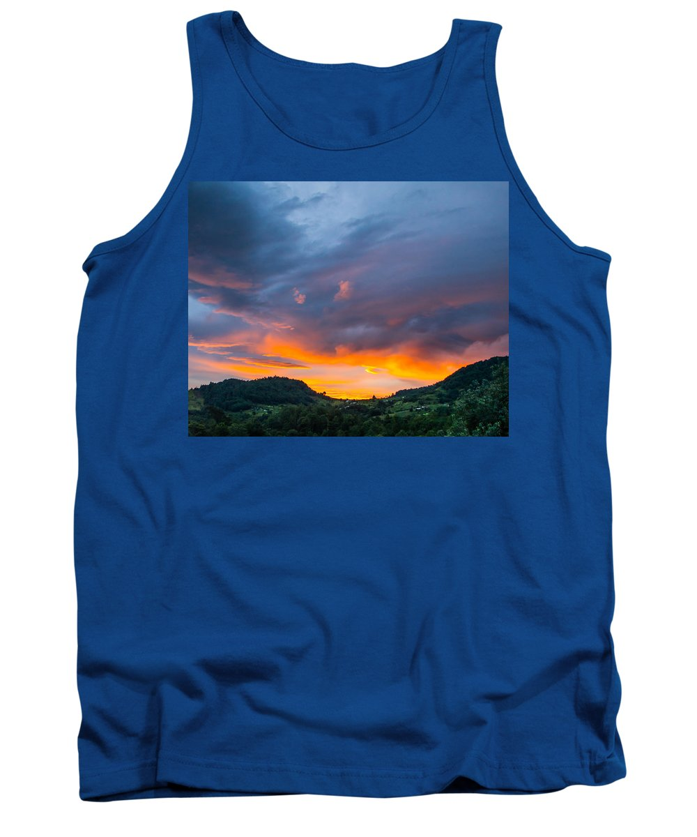 Sunrise Tank Top featuring the photograph Sunrise Over Guatemala by Parker Cunningham
