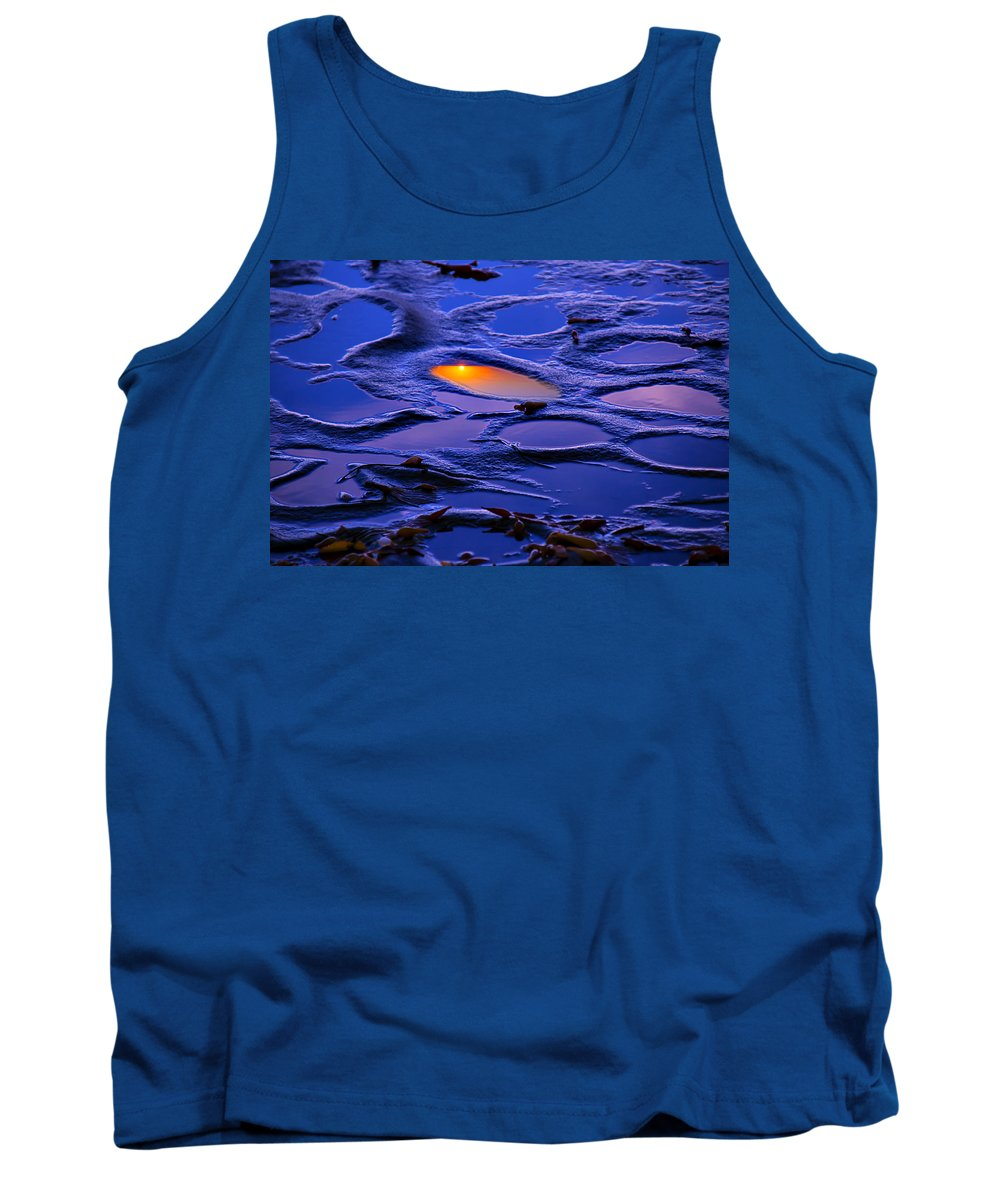 Pacific Tank Top featuring the photograph Sunset In Tide Pools by Garry Gay