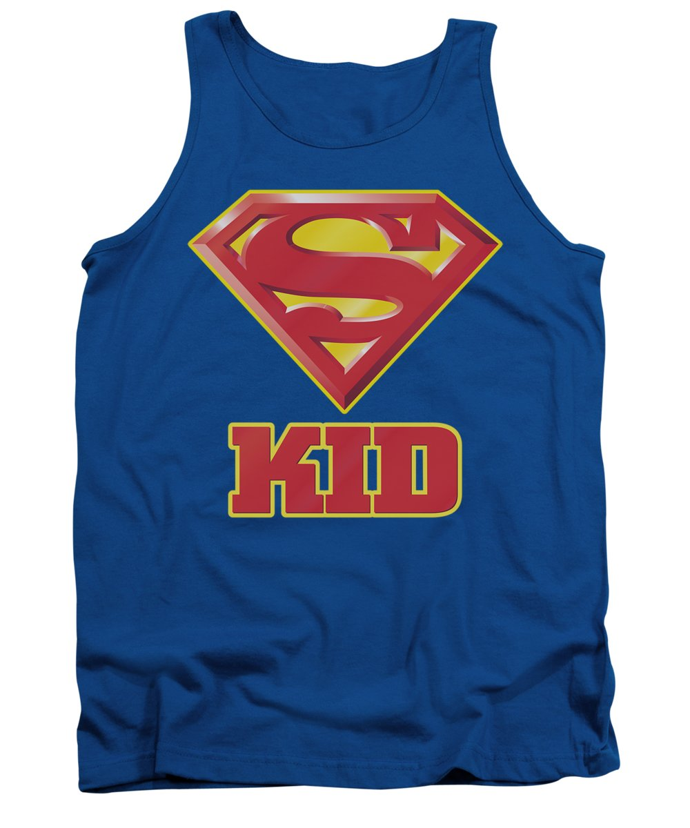 Superman Tank Top featuring the digital art Superman - Super Kid by Brand A