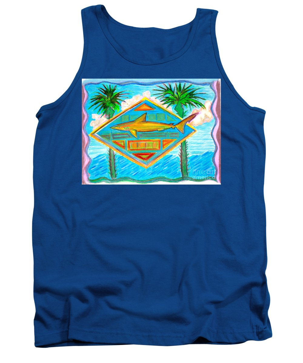 Pastels Tank Top featuring the pastel Surf Crest by Sean Hughes