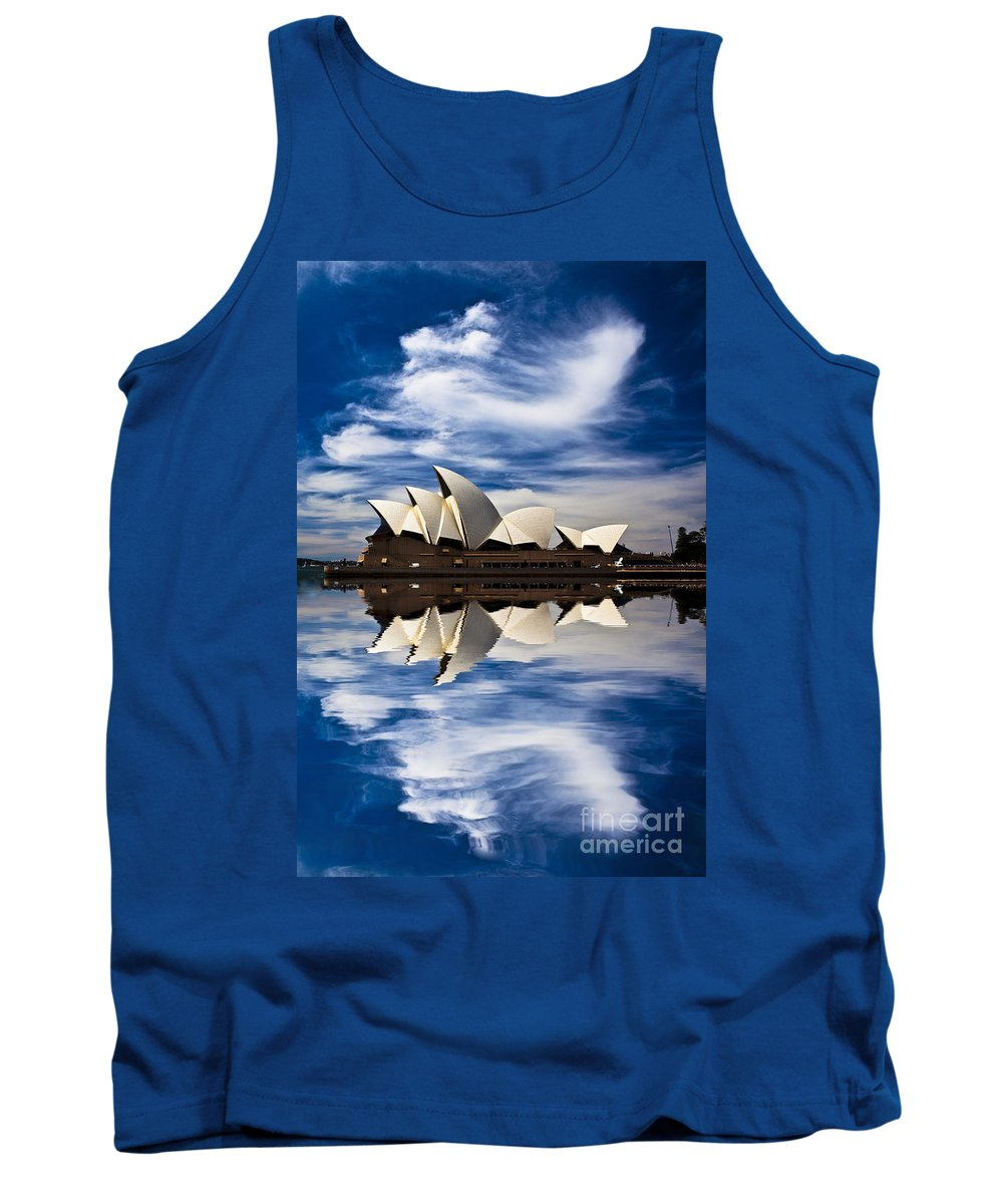 Sydney Opera House Tank Top featuring the photograph Sydney Opera House reflection by Sheila Smart Fine Art Photography