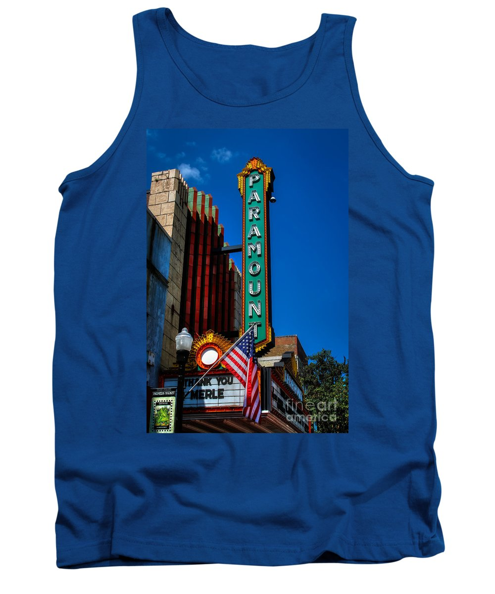 Bristol Tennessee Virginia Tn Va Paramount Theatre State Street St Tank Top featuring the photograph Thank You Merle by Karl Greeson