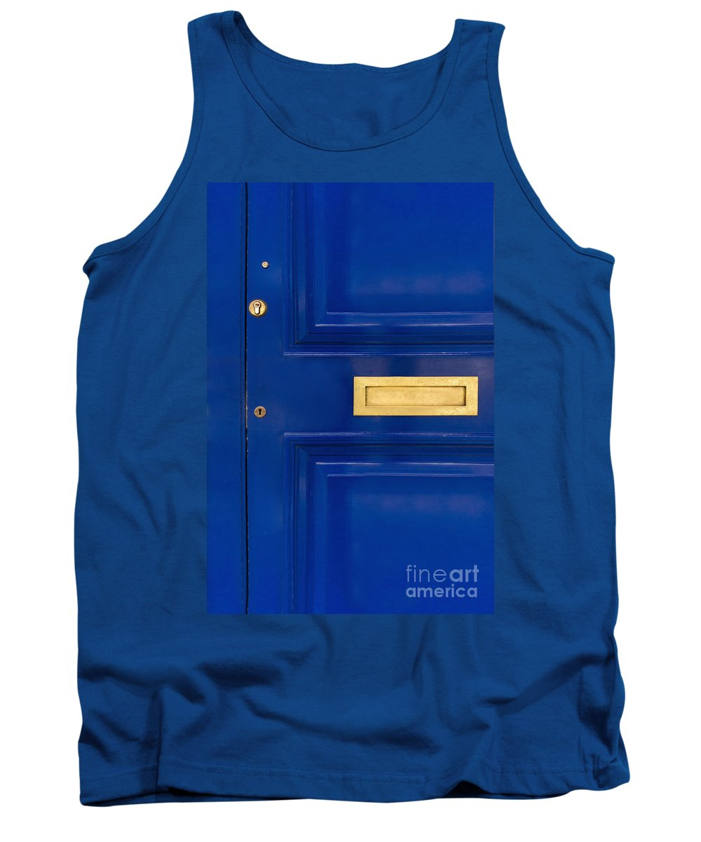Blue Tank Top featuring the photograph The Blue Door by Margie Hurwich