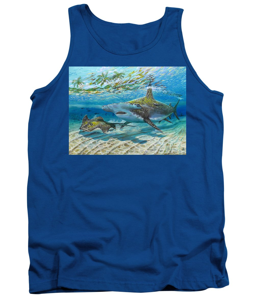 Shark Tank Top featuring the painting The Chase by Carey Chen