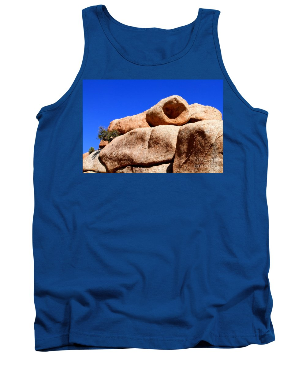 Boulder Tank Top featuring the photograph The Eye Of Joshua Tree By Diana Sainz by Diana Raquel Sainz