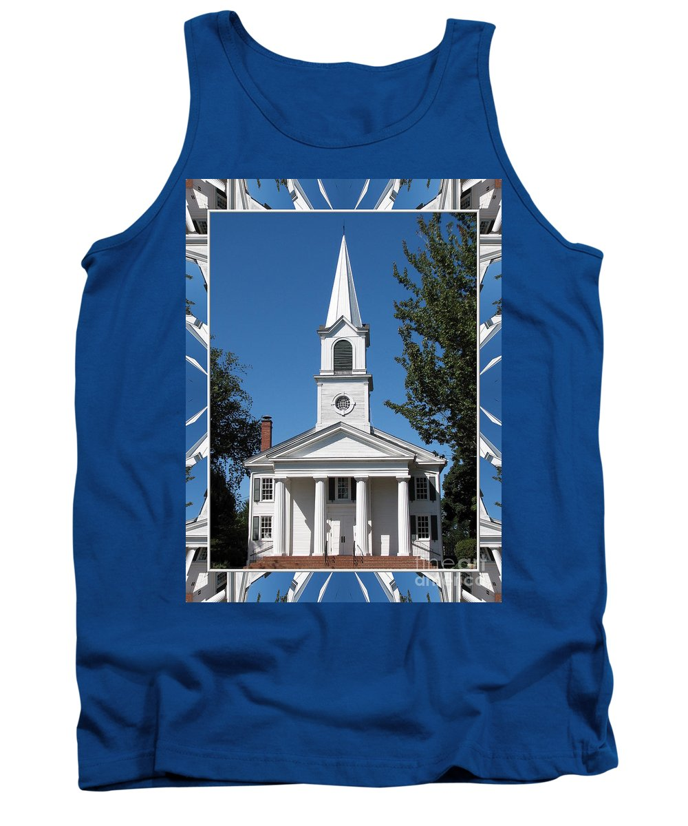 The First Church Of Evans Tank Top featuring the photograph The First Church Of Evans In New York State by Rose Santuci-Sofranko
