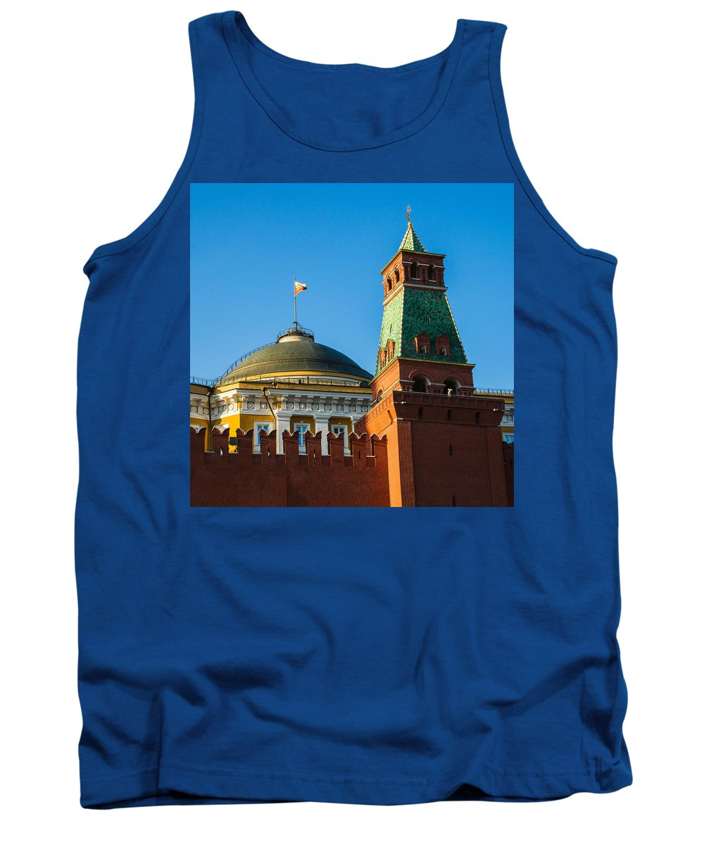 Architecture Tank Top featuring the photograph The Kremlin Senate Building - Square by Alexander Senin