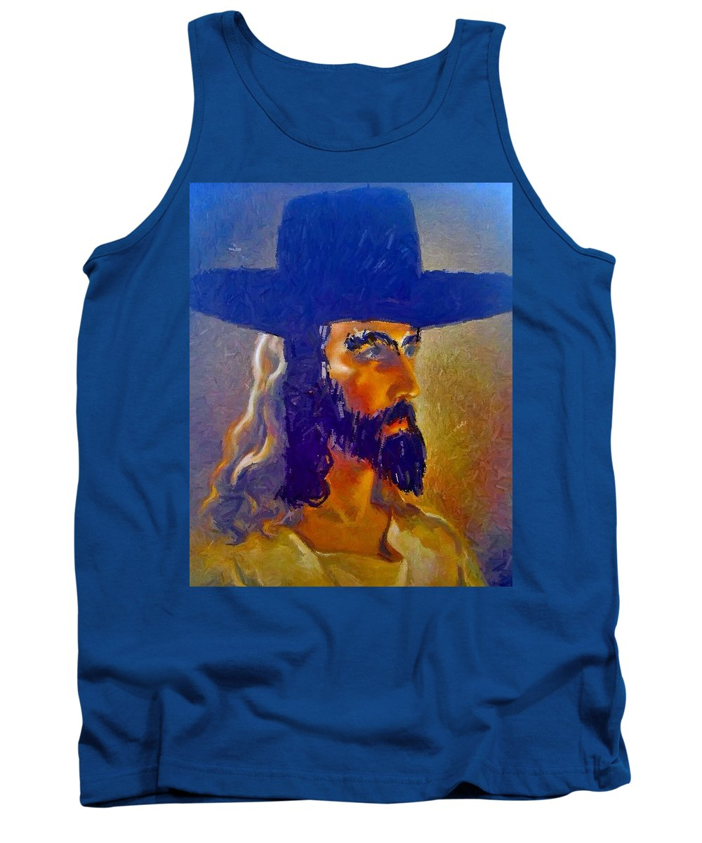 Jesus Tank Top featuring the painting The Man by Lisa Piper
