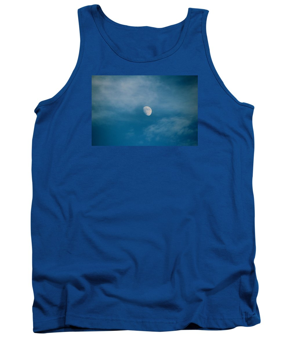 Moon Tank Top featuring the photograph The Moon by Cynthia Guinn