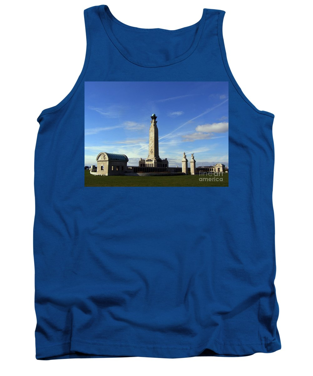 War Memorial Southsea Tank Top featuring the photograph The Portsmouth Naval Memorial Southsea by Terri Waters