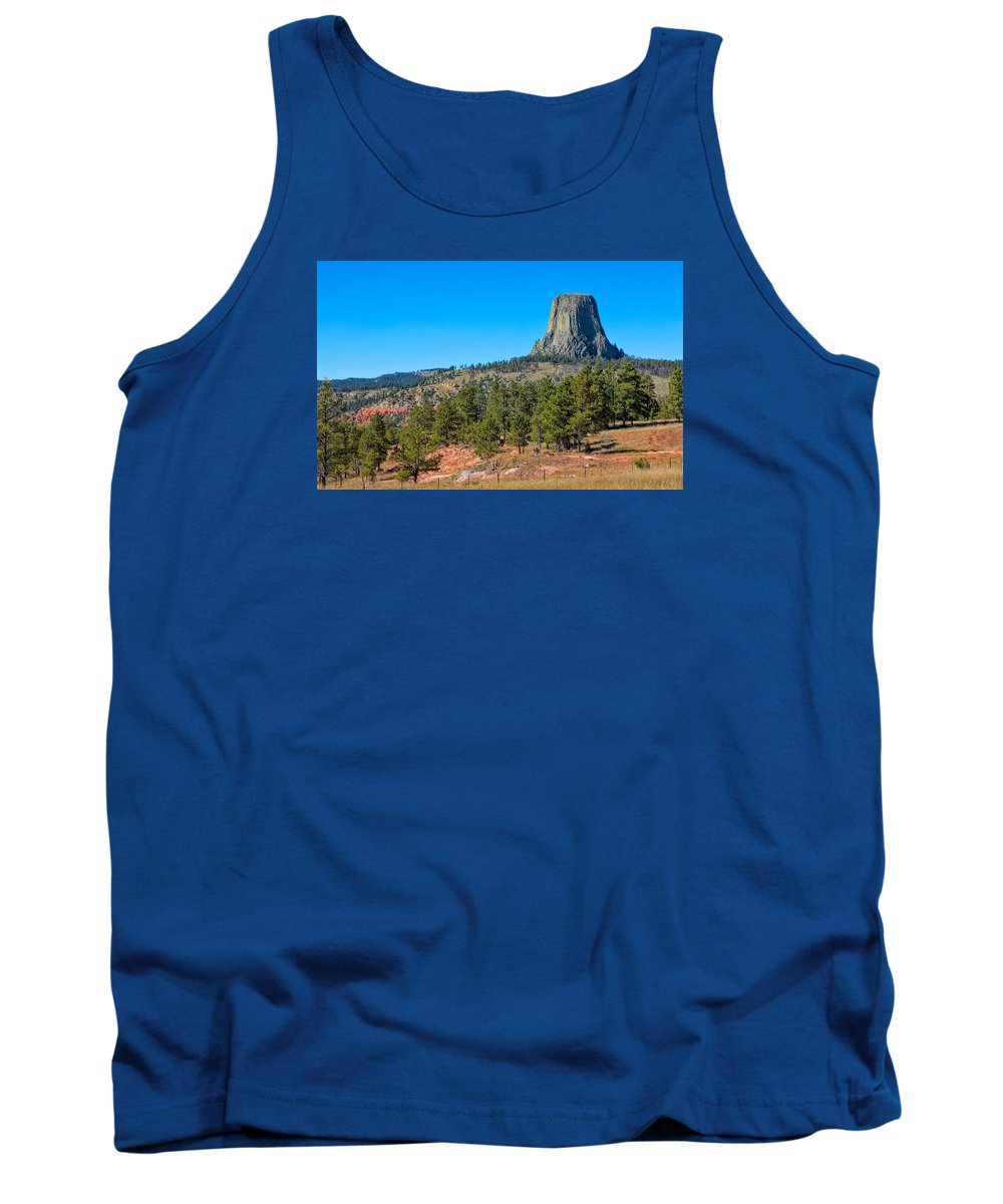 America Tank Top featuring the photograph The Realm Of Devils Tower by John M Bailey