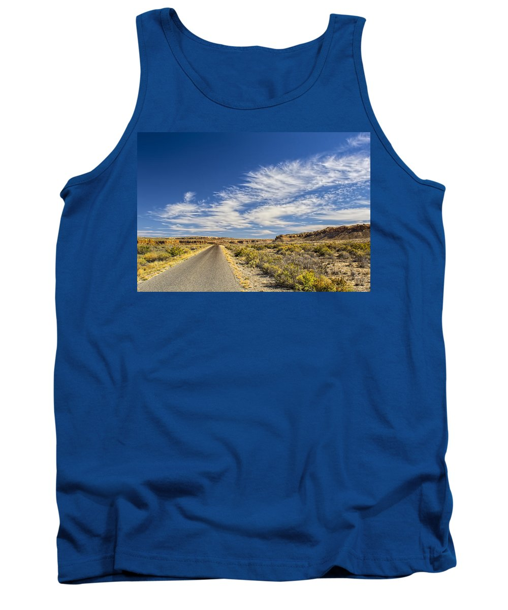 Southwest Tank Top featuring the photograph The Road Goes On Forever by Brian King