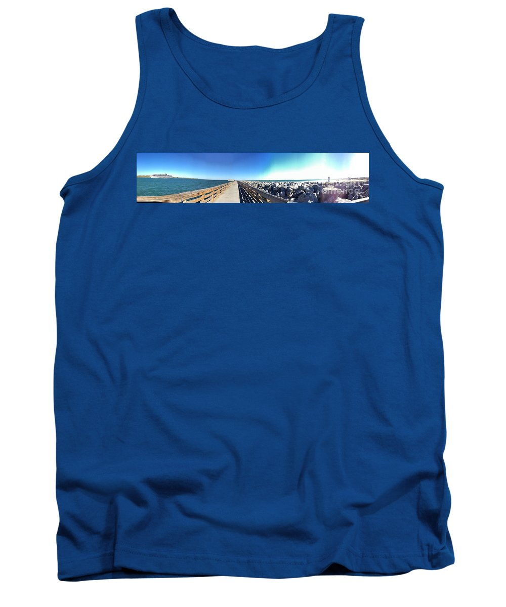 Port Tank Top featuring the photograph The Ship Comes Into The Port by Donna Spencer